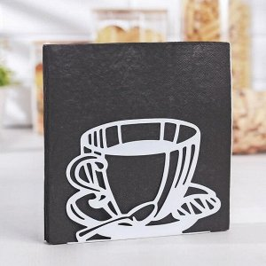 Салфетница «Кофе», 14?4?10 см, цвет белый