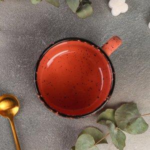 Чашка чайная Topazio, 350 мл, цвет розовый