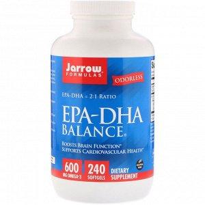 Jarrow Formulas, EPA-DHA Balance, 240мягких таблеток