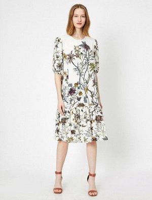 Восхитительное платье с вышивкой бисером