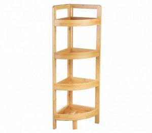 Этажерка Этажерка 4-х секц угл №6 бамбук 23,5*23,5*80см