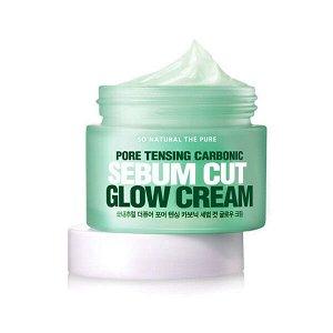 So Natural Pore Tensing Carbonic Sebum Cut Glow Cream Увлажняющий крем для сужения пор, 50 мл