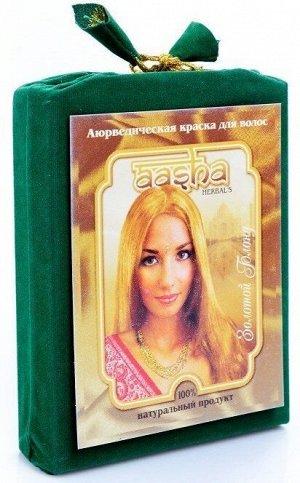 Золотой блонд - аюрведическая краска для волос AASHA HERBALS 100 гр