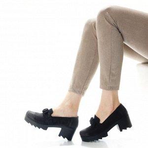 Туфли Страна производитель: Турция Полнота обуви: Тип «F» или «Fx» Материал верха: Нубук Цвет: Черный Материал подкладки: Натуральная кожа Стиль: Повседневный Форма мыска/носка: Закругленный Каблук/По