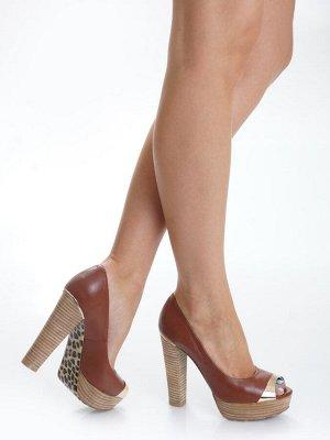Туфли Страна производитель: Китай Полнота обуви: Тип «F» или «Fx» Материал верха: Натуральная кожа Цвет: Коричневый Материал подкладки: Натуральная кожа Стиль: Городской Форма мыска/носка: Закругленны