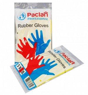 Paclan Professional Перчатки резиновые хозяйственные  8-8,5 желтые (L) 1 пара