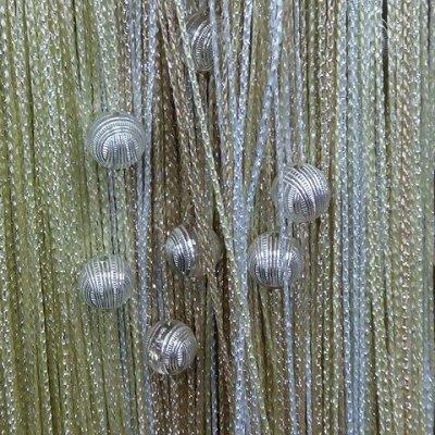 Нитяные шторы - Кисея! Огромный выбор, оптовая цена — Кисея Люрекс радуга с шарами плотная — Шторы