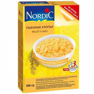 Грандиозная продуктовая закупка! Соусы, масло, макароны  — Хлопья, крупа манная NordiC — Каши, хлопья и сухие завтраки