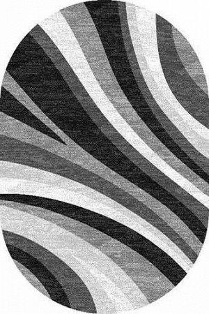 Ковер Ковер SILVER MERINOS 1.5x3.0 d234 GRAY ОВАЛ /  / Овал / 1.5x3.0 / Ворс --- / Серый / Современный /  /