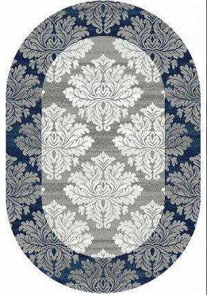 Ковер Ковер SILVER MERINOS 0.8x1.5 d213 GRAY-BLUE ОВАЛ /  / Овал / 0.8x1.5 / Ворс --- / Синий / Классический /  /