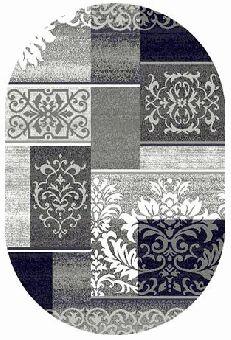 Ковер Ковер SILVER MERINOS 2.5x3.5 d216 GRAY ОВАЛ /  / Овал / 2.5x3.5 / Ворс --- / Серый / Классический /  /