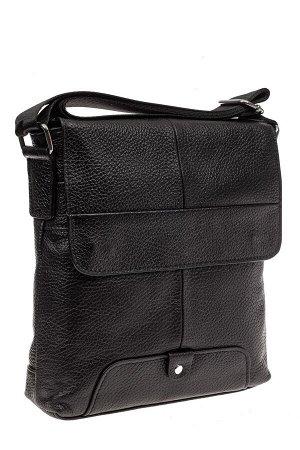 Мужская сумка планшет из натуральной кожи, цвет черный