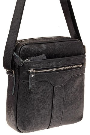 Мужская кожаная сумка, цвет черный