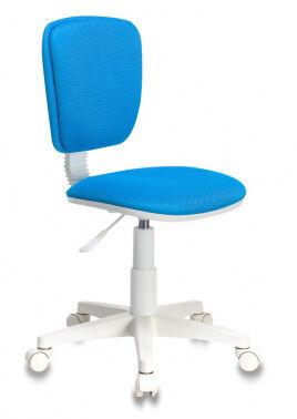 Кресло детское Бюрократ CH-W204NX/BLUE голубой TW-55 (пластик белый)