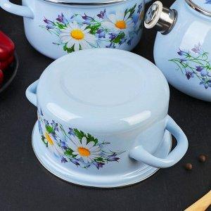 Набор посуды «Полесье», 4 предмета: кастрюли 1,5 л, 2,3 л, 3 л, чайник 2 л
