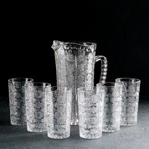 Набор питьевой «Северная звезда», 7 предметов: кувшин 1,3 л, 6 стаканов 180 мл