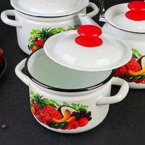 Набор посуды «Эквадор», 3 предмета: кастрюли 2 л, 3 л, чайник 3 л