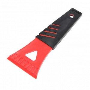 Скребок для льда TORSO, ширина скребка 7 см, красно-черный