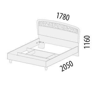 Кровать двуспальная Катрин 92.01