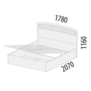 Кровать с подъемным механизмом Катрин 92.21.1
