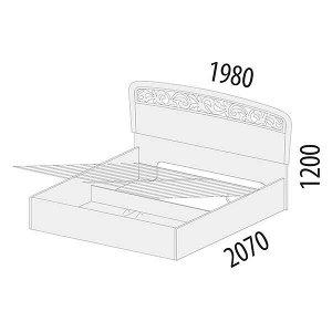 Кровать с подъемным механизмом Катрин 92.22.1