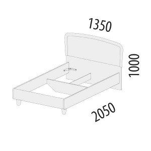 Кровать полутороспальная  Катрин 92.03