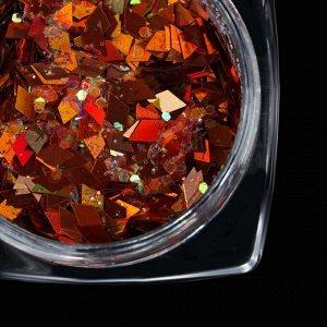 Кусочки битого стекла для декора, цвет оранжевый