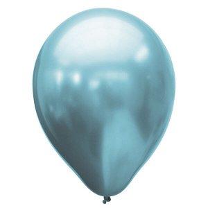 """Воздушный шар 11""""/28см Хром PLATINUM Blue 25шт"""