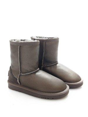 Угги Страна производитель: Китай Вид обуви: Угги Пол: Женский Сезон: Зима Полнота обуви: Тип «F» или «Fx» Цвет: Серый Материал верха: Натуральная кожа + замша Материал подкладки: Натуральный мех Высот