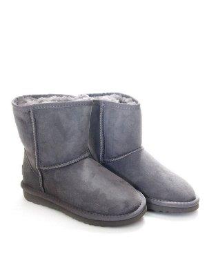 Угги Страна производитель: Китай Вид обуви: Угги Пол: Женский Сезон: Зима Полнота обуви: Тип «F» или «Fx» Цвет: Серый Материал верха: Натуральная замша Материал подкладки: Натуральный мех Высота голен