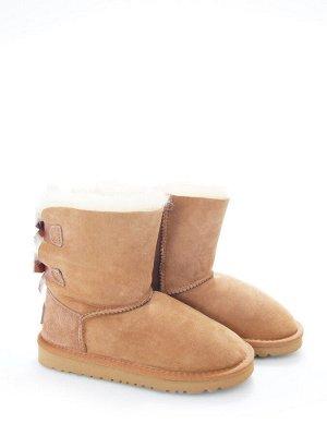 Угги Страна производитель: Китай Вид обуви: Угги Пол: Для девочек Сезон: Зима Полнота обуви: Тип «F» или «Fx» Цвет: Светло-коричневый Материал верха: Натуральная замша Материал подкладки: Натуральный
