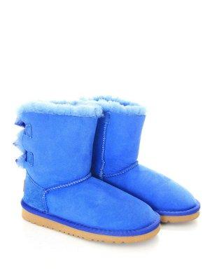 Угги Страна производитель: Китай Вид обуви: Угги Пол: Для девочек Сезон: Зима Полнота обуви: Тип «F» или «Fx» Цвет: Синий Материал верха: Натуральная замша Материал подкладки: Натуральный мех Высота г