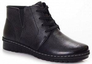 Ботинки Страна производитель: Китай Полнота обуви: Тип «F» или «Fx» Материал верха: Натуральная кожа Цвет: Черный Материал подкладки: Байка Стиль: Повседневный Форма мыска/носка: Закругленный Каблук/П