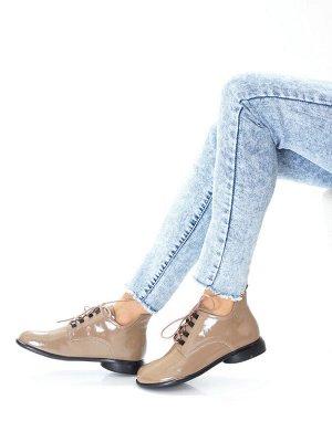 Ботинки Страна производитель: Китай Размер женской обуви x: 36 Полнота обуви: Тип «F» или «Fx» Вид обуви: Ботинки Сезон: Весна/осень Материал верха: Лаковая кожа натуральная Материал подкладки: Натура