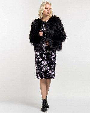 Пальто из искусственного меха жен. (999999) чёрный