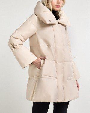 Пальто утепленное жен. (121404) пепельно-серый