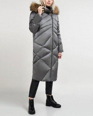 Пальто утепленное жен. (180601)темно-серый,40