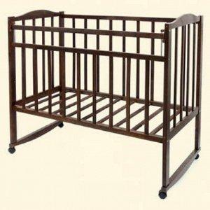"""Кровать детская """"Magico mini"""" (колесо/качалка, откид.планка КР1-02м) (темный орех)"""