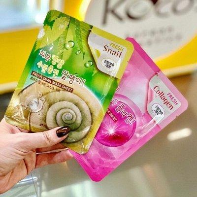 Хиты Кореи за три дня — Тканевые и Гидрогелевые маски! — Увлажнение