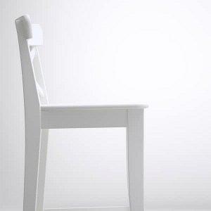ИНГОЛЬФ Стул барный, белый, 63 см