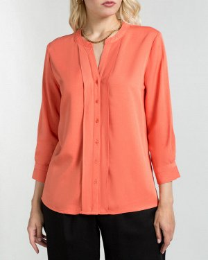 Блузка оранжево-красный
