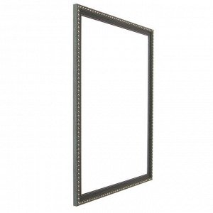 Рама для картин (зеркал) 40 х 50 х 2.6 см. пластиковая. Calligrata. цвет тёмно-зелёный с золотом