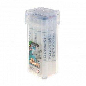 Набор маркеров Superior, профессиональные, двусторонние, 12 шт., 12 цветов, телесные оттенки, MS-888