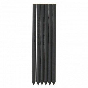 Уголь в стержне 5.6 мм набор 6 штук, Koh-I-Noor GIOCONDA 8673/3 Hard, черный