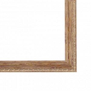 Рама для картин (зеркал) 30 х 40 х 2.6 см. пластиковая. Calligrata. дерево с золотом