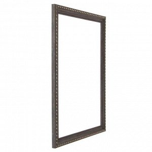 Рама для картин (зеркал) 30 х 40 х 2.6 см. пластиковая. Calligrata. серо-коричневый с золотом