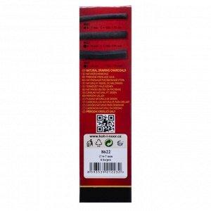 Уголь натуральный 6-7 мм, набор 6 штук, Koh-i-Noor 8622 GIOCONDA, черный