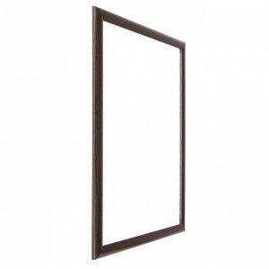 Рама для картин (зеркал) 40 х 50 х 2.7 см. пластиковая. Calligrata. цвет мокрый асфальт