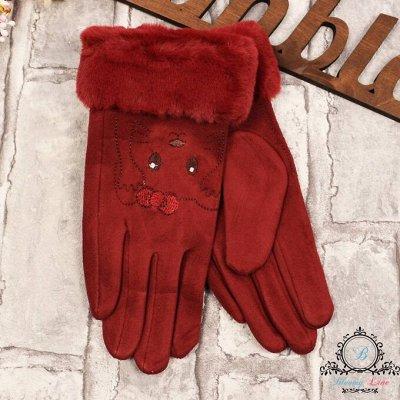 №138=✦Bloomy line✦-детская мода для маленьких модниц. — Перчатки и варежки — Вязаные перчатки и варежки