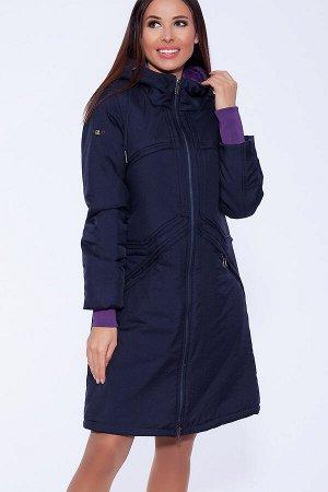 #55998 Пальто Темно-синий